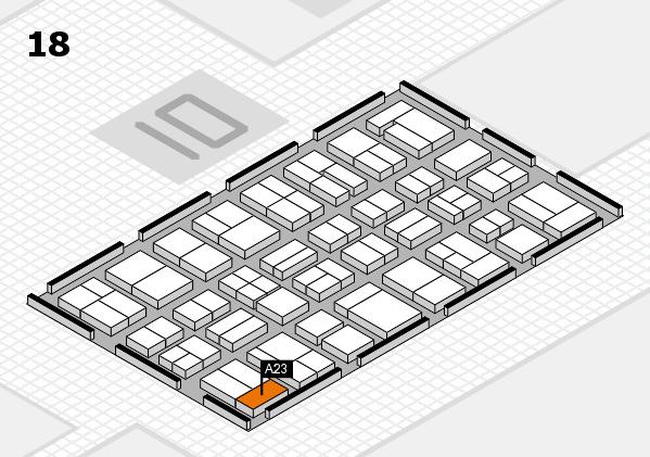 MEDICA 2017 hall map (Hall 18): stand A23