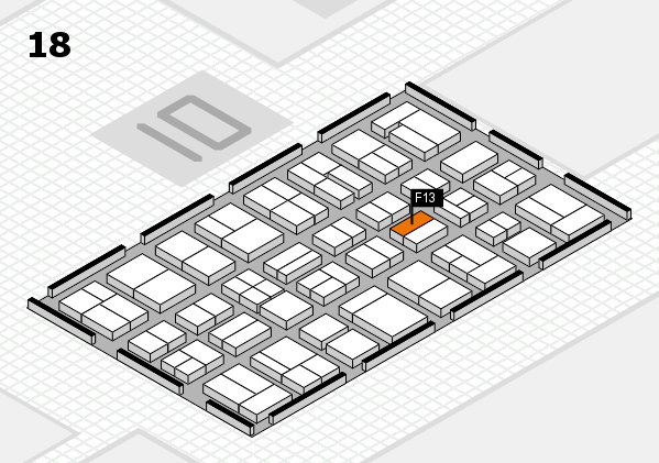 MEDICA 2017 Hallenplan (Halle 18): Stand F13