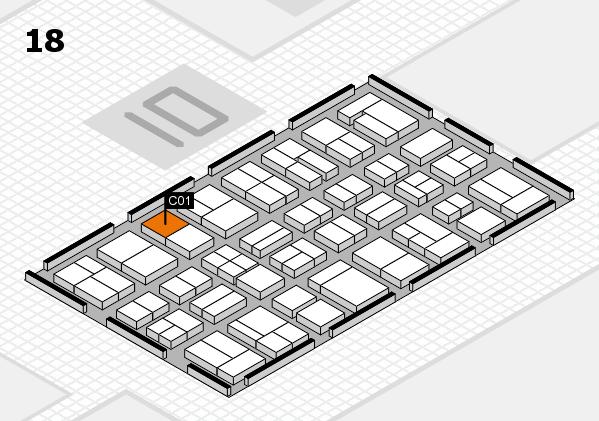 MEDICA 2017 Hallenplan (Halle 18): Stand C01