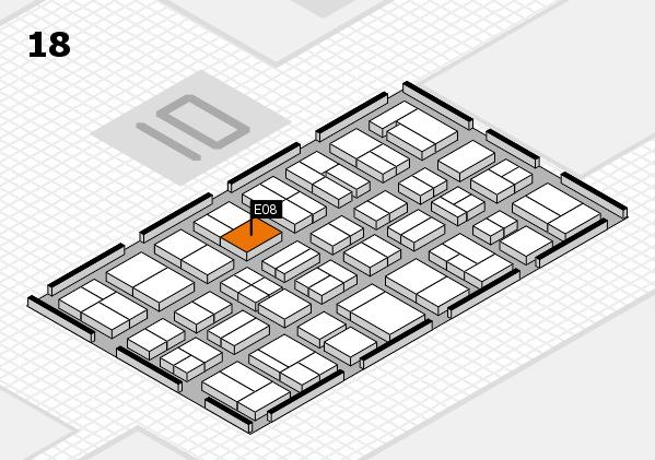 MEDICA 2017 hall map (Hall 18): stand E08
