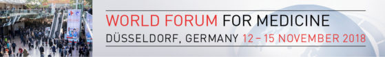 Grafik: 12. bis 15. November 2018, MEDICA - World Forum for Medicine in Düsseldorf