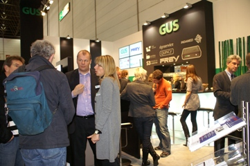 GUS-Messestand in Halle 15, G 25