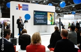 Foto: Vortrag im MEDICA CONNECTED HEALTHCARE FORUM