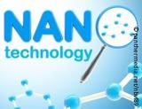 Graphic: Word Nanotechnology in blue