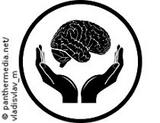Graphic: Two hands protecting a brain icon