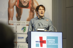 Foto: Top-Triathlet Sebastian Kienle war einer der Top-Speaker der MEDICA MEDICINE + SPORTS CONFERENCE 2019