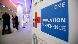 Foto: DIsplay der MEDICA EDUCATION CONFERENCE