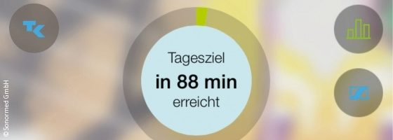 Bild: Screenshot aus der Tinnitracks-App; Copyright: Sonormed GmbH