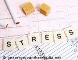 Photo: ECG, cigarettes, sugar and the word stress