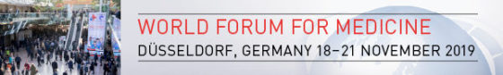 Grafik: 18. bis 21. November 2019, MEDICA - World Forum for Medicine in Düsseldorf