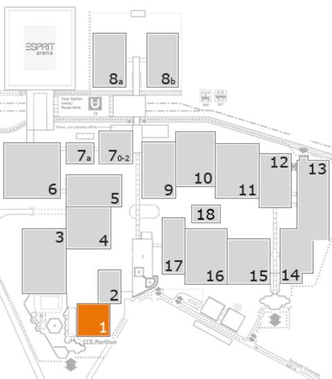 MEDICA 2016 Geländeplan: Halle 1