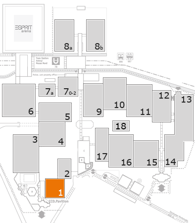 MEDICA 2016 fairground map: Hall 1