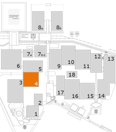 MEDICA 2016 Geländeplan: Halle 4