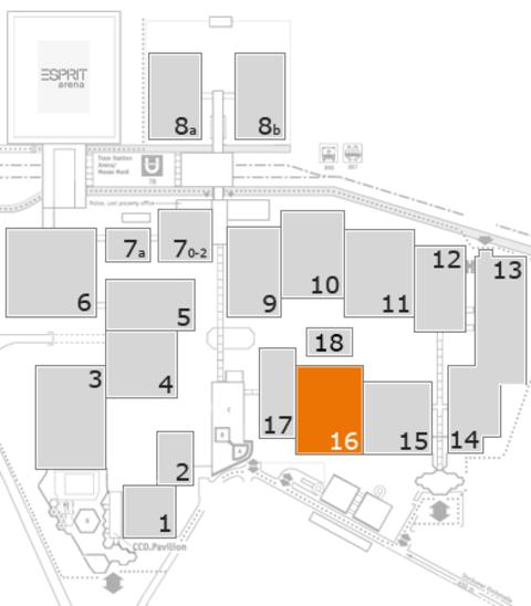 MEDICA 2016 Geländeplan: Halle 16