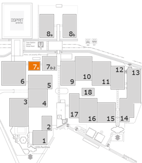 MEDICA 2016 fairground map: Hall 7a