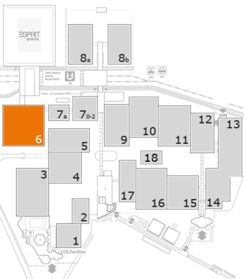 MEDICA 2016 fairground map: Hall 6