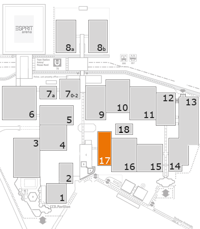 MEDICA 2017 fairground map: Hall 17