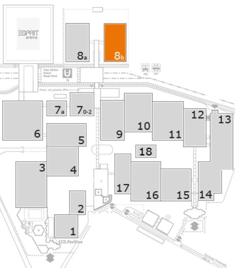 COMPAMED 2016 Geländeplan: Halle 8b