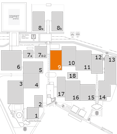 MEDICA 2017 fairground map: Hall 9
