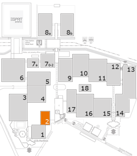 MEDICA 2016 fairground map: Hall 2