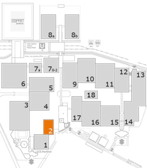 MEDICA 2016 Geländeplan: Halle 2