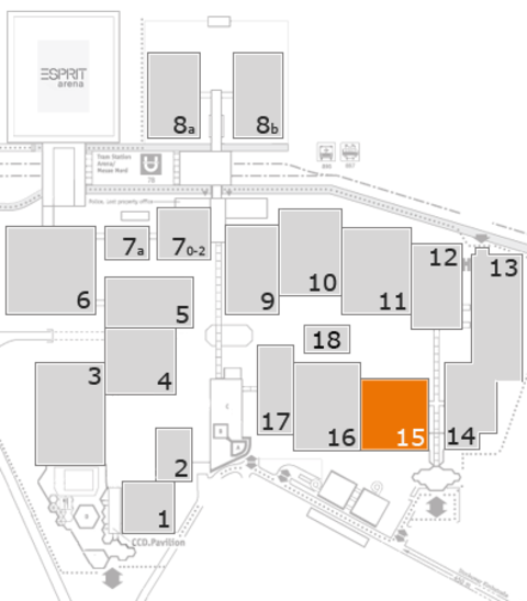 MEDICA 2016 fairground map: Hall 15
