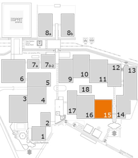 MEDICA 2016 Geländeplan: Halle 15