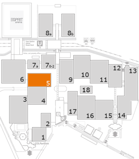 MEDICA 2016 fairground map: Hall 5