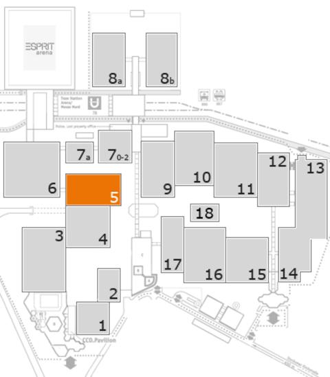 MEDICA 2016 Geländeplan: Halle 5