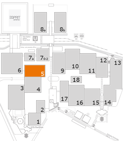 MEDICA 2017 fairground map: Hall 5