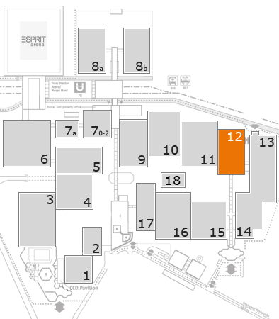 MEDICA 2016 fairground map: Hall 12