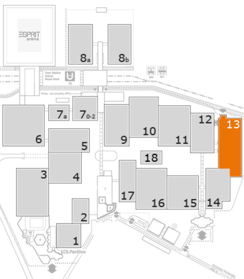 MEDICA 2016 fairground map: Hall 13