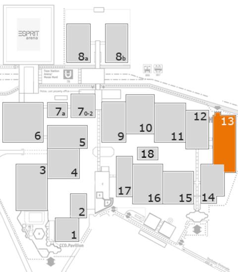MEDICA 2016 Geländeplan: Halle 13