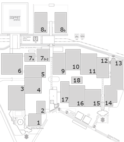 MEDICA 2016 fairground map: North Entrance