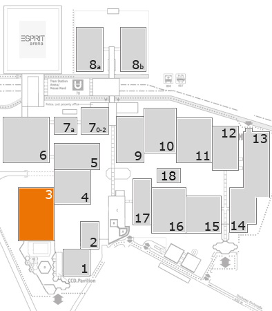 MEDICA 2017 fairground map: Hall 3
