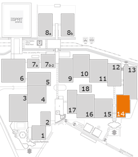 MEDICA 2016 fairground map: Hall 14