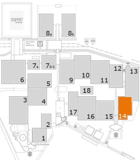 MEDICA 2016 Geländeplan: Halle 14