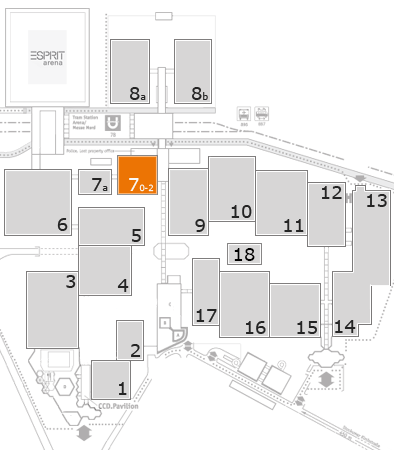 MEDICA 2017 fairground map: Hall 7, level 1