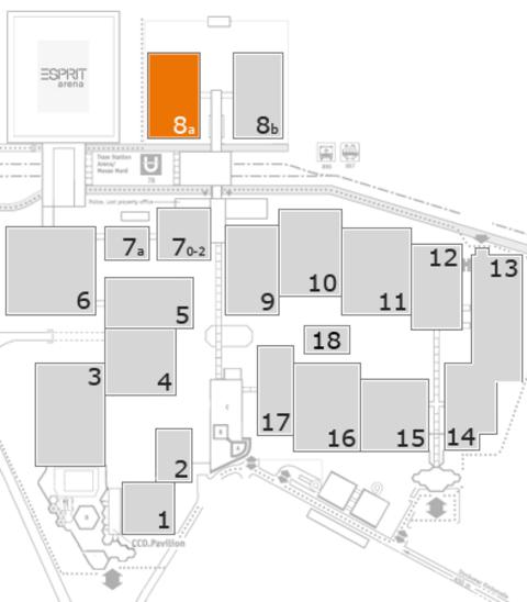 COMPAMED 2016 Geländeplan: Halle 8a