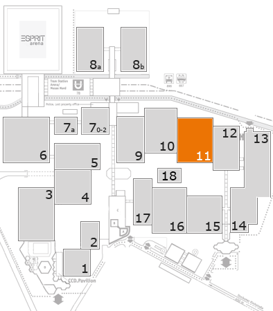 MEDICA 2016 fairground map: Hall 11
