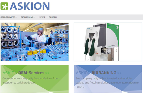 Snap shot new askion webpage 2020