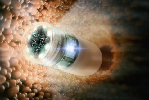 Miniaturized, modular capsule camera for small intestine endoscopy