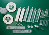 Disposable plastic containers for medical purposes