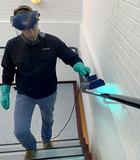 Disinfection of stair rails