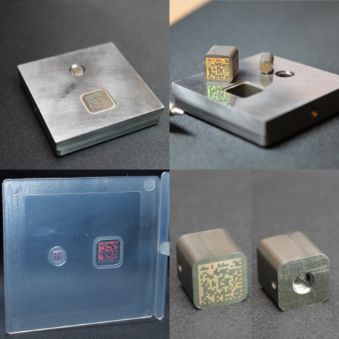 imZERT™ - mould, mould inserts with nanostructured barcodes, and moulded demonstration part