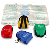 CPR in a fancy key-ring bag with gloves (FS-103PB)