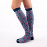 compresive printed socks flamingo