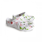 foam rubber printed clog shoes flamingo cactus