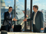 Erik Gatenholm, CEO of CELLINK and Dr. Holger Eickhoff, CEO of Scienion