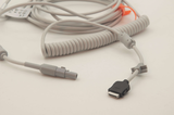 GE Compatible EKG Coiled Interface Cable for CAM 14